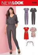 6413 New Look Pattern: Misses' Jumpsuit and Dress in Two Lengths